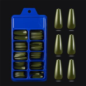 100Pcs army green_24-100-pcs-candy-color-false-nail-tips-fu_variants-29
